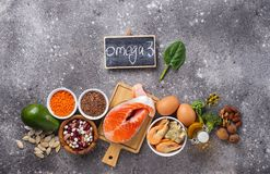 Free Products Sources Of Omega-3 Acids Stock Photos - 168449863