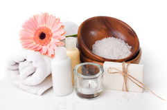 Products for spa, body care and hygiene Royalty Free Stock Image