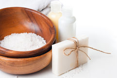 Products for spa, body care and hygiene Royalty Free Stock Photo