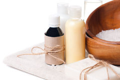 Products for spa, body care and hygiene Stock Photography