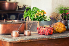 Products on the table Royalty Free Stock Image