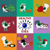 The products are useful for eye health. Royalty Free Stock Photos