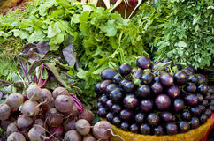 Products vegetables and greens on market stock photos