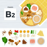 Products with vitamin B2 Royalty Free Stock Photos