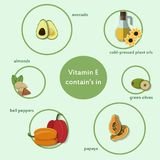 Products which contain vitamin C, Royalty Free Stock Images