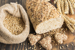Products from wholegrain wheat Stock Photos