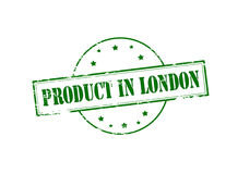 Produit à Londres illustration stock