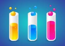 Produit chimique liquide dans des tubes Photographie stock