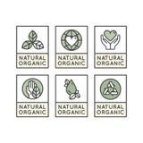Produit d'Eco, bio insigne de label d'ingrédient Image libre de droits