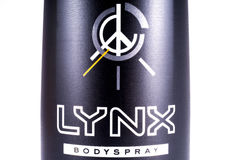 Produit de Lynx Bodyspray Photo libre de droits