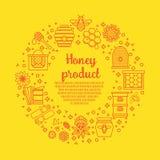 Produit de miel de Sunny Banner Images stock