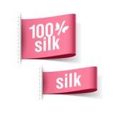 produit de soie de 100% Images stock
