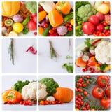 Produit-légumes frais de vegetables collage Photographie stock libre de droits