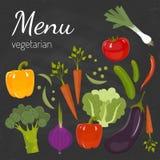 Produit-légumes frais de vegetables Concept de régime et d'aliment biologique Illustration de vecteur Photographie stock libre de droits