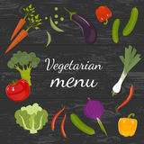 Produit-légumes frais de vegetables Concept de régime et d'aliment biologique Illustration de vecteur Images stock
