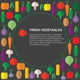 Produit-légumes frais de vegetables Fond avec les légumes frais et endroit pour le texte Photographie stock