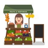 Produit local de légumes des ventes des exploitants du marché Images stock