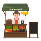 Produit local de légumes des ventes des exploitants du marché Images libres de droits
