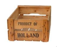 Produit vide de caisse de la Hollande Photos libres de droits