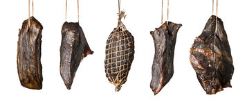 Produits à base de viande fumés Photos libres de droits