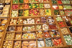 Produits alimentaires miniatures Image stock