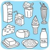 Produits d'agenda et laitiers Illustration de Vecteur