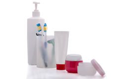 Produits d'hygiène personnels réglés Photo stock