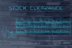 Produits de achat de client, dégagement courant photographie stock