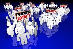 Produits de achat de préférence de clients de fidélité à la marque illustration libre de droits