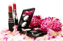 Produits de beauté décoratifs Photographie stock libre de droits
