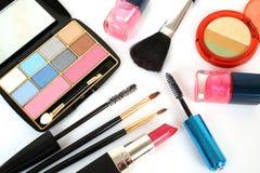 Produits de beauté décoratifs femelles Photographie stock libre de droits