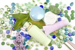 Produits de beauté de fines herbes Images stock