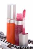Produits de beauté femelles décoratifs Photo stock