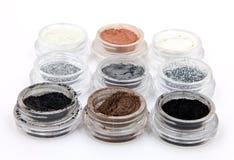 Produits de beauté minéraux métalliques de poudre image libre de droits