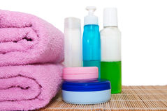 Produits de beauté pour la salle de bains Photo libre de droits
