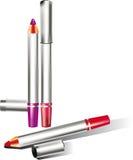 Produits de beauté pour le crayon d'oeil Images libres de droits