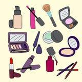 produits de beauté réglés Image stock