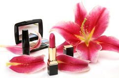 Produits de beauté décoratifs Photographie stock