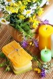 Produits de fines herbes naturels Photo stock