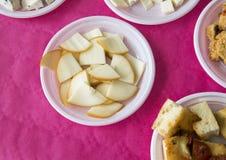 Produits de fromage pour prélever fourni par L Latte d'Amordi de `, une société qui produit tous les types de fromage dans Cavall Image libre de droits