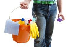 Produits de nettoyage de nettoyage Image libre de droits