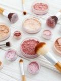 Produits de poudre de maquillage images libres de droits