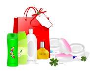 Produits de soin de peau, vecteur de cdr Photos stock
