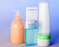 Produits de soin pour une peau Photos libres de droits