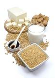 Produits de soja image libre de droits