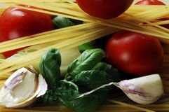 Produits de spaghetti Photos libres de droits