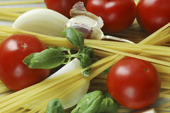 Produits de spaghetti Photographie stock libre de droits
