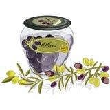 Produits de vecteur d'huile d'olive Photographie stock libre de droits
