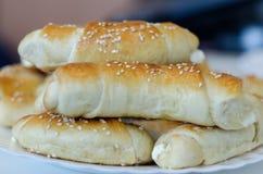 Produits domestiques frais de boulangerie Photos stock