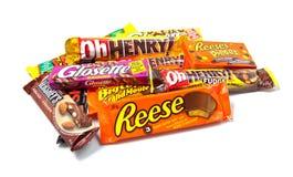 Produits du chocolat de Hershey assorti Photos stock